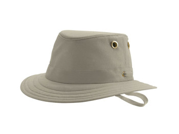 Tilley T5 Cotton Duck Hat - Khaki with Olive Underbrim