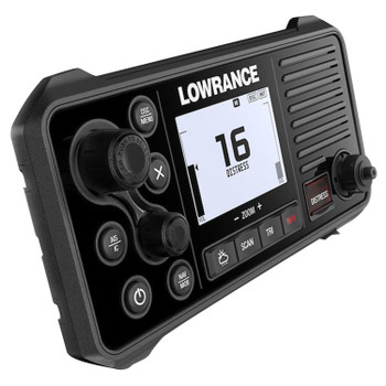 Lowrance Link-9 VHF Marine Radio with DSC AIS Receiver - Side angle view