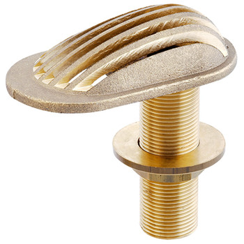 Corrosion-Resistant Threaded Brass Skin Fitting - with Grate Strainer