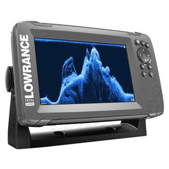 Lowrance HOOK²-7x SplitShot Transducer and GPS Plotter Fishfinder - Side View