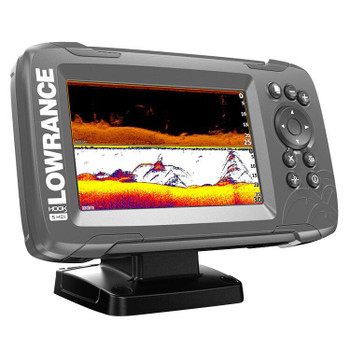 Lowrance HOOK²-5x SplitShot Transducer and GPS Plotter Fishfinder - Side View