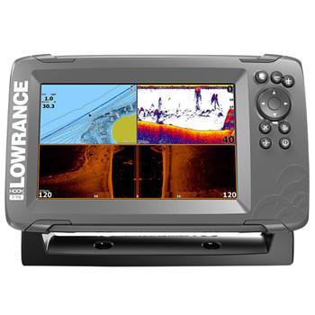 Lowrance HOOK²-7 TripleShot Transducer and Coastal Maps Fishfinder