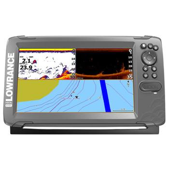 Lowrance HOOK²-9 SplitShot Transducer and Coastal Maps Fishfinder