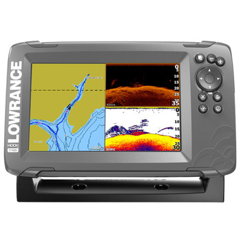 Lowrance HOOK²-7 SplitShot Transducer and Coastal Maps Fishfinder