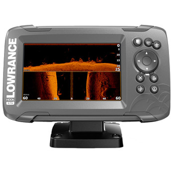 Lowrance HOOK²-5 SplitShot Transducer and Coastal Maps Fishfinder