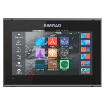 Simrad GO9 XSE Multi-Touch Fishfinder - Straight View