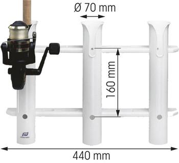 Plastimo PVC Fishing Rod Rack for 3 Rods