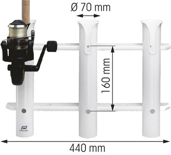 Plastimo PVC Fishing Rod Rack for 3 Rods