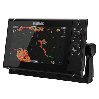 Simrad NSS9 Evo3 Multifunction Display with World Basemap - Side View