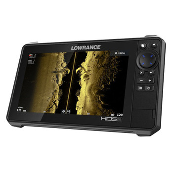 Lowrance HDS­9 Live Row with No Transducer Fishfinder - Side View without Bracket