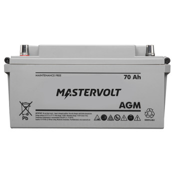 Mastervolt AGM Battery - 12V/70Ah - Group 27 - Straight View