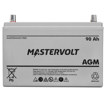 Mastervolt AGM Battery - 12V/90Ah - Group 31 - Straight View