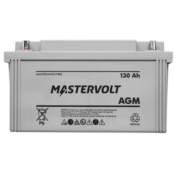 Mastervolt AGM Battery - 12V/130Ah - Straight View