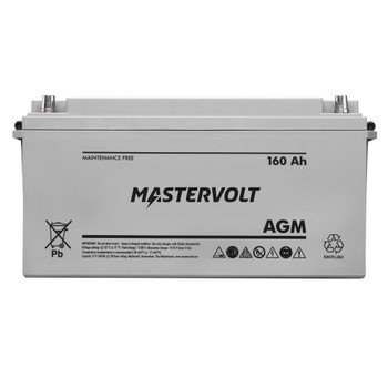 Mastervolt AGM Battery - 12V/160Ah - Group 4D - Straight View