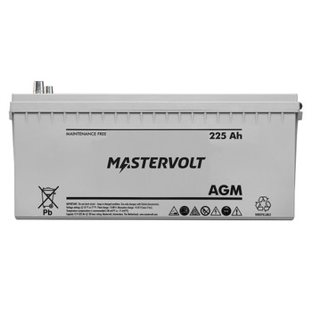 Mastervolt AGM Battery - 12V/225Ah - Group 8D - Straight View