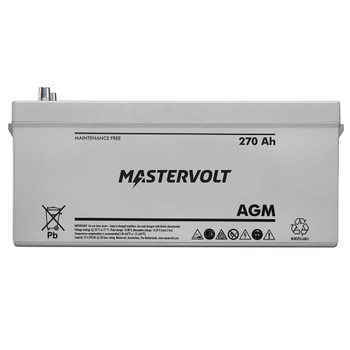 Mastervolt AGM Battery - 12V/270Ah - Group Super 8D - Straight View
