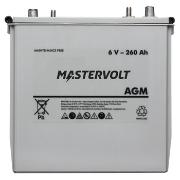 Mastervolt AGM Battery - 6V/260Ah - Straight View