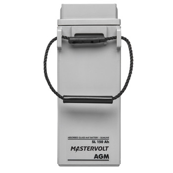 Mastervolt AGM Battery SlimLine - 12V/150Ah - Straight View