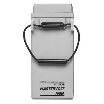 Mastervolt AGM Battery SlimLine - 12V/185Ah - Straight View