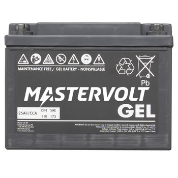 Mastervolt MVG Gel Battery - 12V/25Ah - Straight View