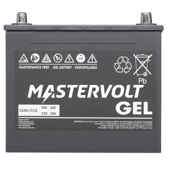 Mastervolt MVG Gel Battery - 12V/55Ah - Straight View