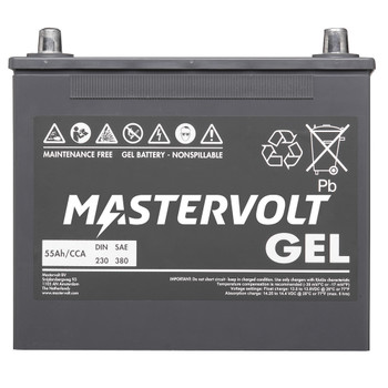 Mastervolt MVG Gel Battery - 12V/55Ah - Straight View