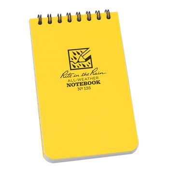 Rite In The Rain 135 Pocket Notebook - Yellow - front