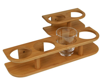 Plastimo 4-Glass Bamboo Marine System Support