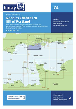 Imray C4 Needles Channel to Bill of Portland Chart