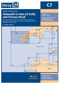Imray C7 Falmouth to Isles of Scilly and Trevose Head Chart