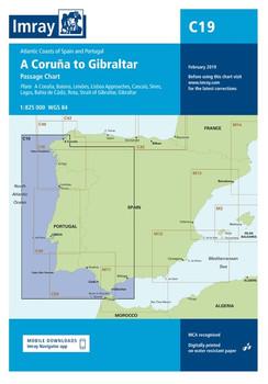 Imray C19 A Coruña to Gibraltar Chart