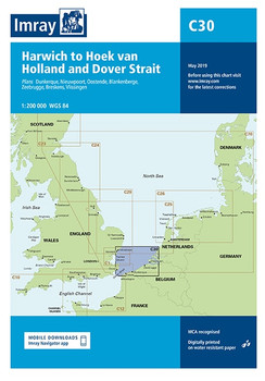 Imray C30 Harwich to Hoek van Holland and Dover Strait Chart