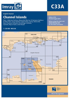 Imray C33A Channel Islands (North) Chart
