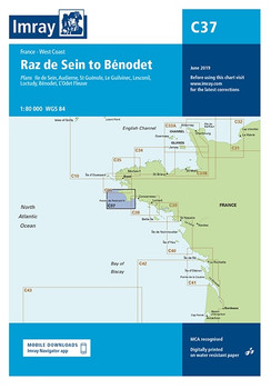 Imray C37 Raz de Sein to Benodet Chart