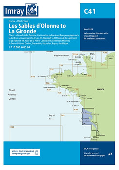 Imray C41 Les Sables d'Olonne to La Gironde Chart