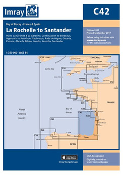 Imray C42 La Rochelle to Santander Chart