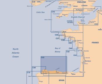 Imray C43 Santander to A Coruña Charts