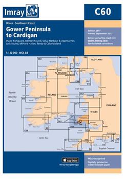 Imray C60 Gower Peninsula to Cardigan Chart