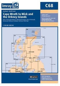 Imray C68 Cape Wrath to Wick and the Orkney Islands Chart