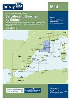 Imray M14 Barcelona to Bouches du Rhône Chart