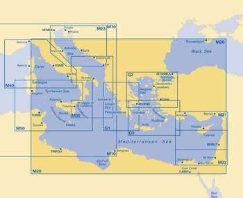 Imray M20 Sardinia to Cyprus and Port Said Chart