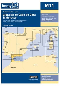 Imray M11 Gibraltar to Cabo de Gata and Morocco Chart