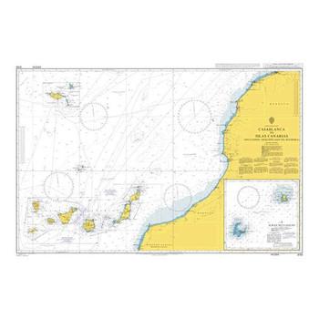 ADMIRALTY Chart 3133: Casablanca to Islas Canarias (Including Arquipelago da Madeira)