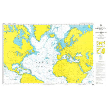 ADMIRALTY Chart 4004: A Planning Chart for the North Atlantic Ocean and Mediterranean Sea