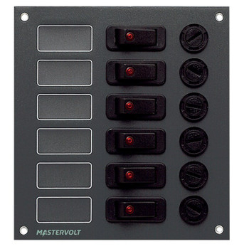 Mastervolt Junior Panel DC Switchboard - 6 Circuit/15A - Maximum Per Outlet