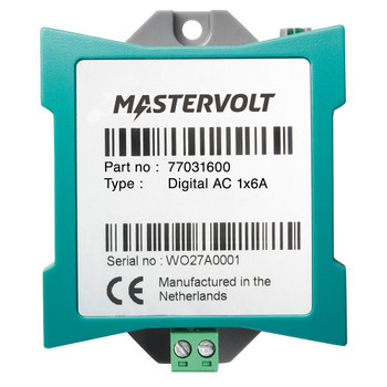 Mastervolt MasterBus Digital AC - 1x6A - Straight View