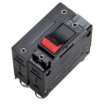 Mastervolt Double Pole Circuit Breaker Rocker - Red - 50A