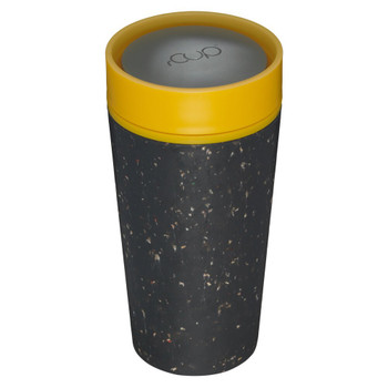 rCUP Reusable Coffee Cup - 12oz - Black & Mustard