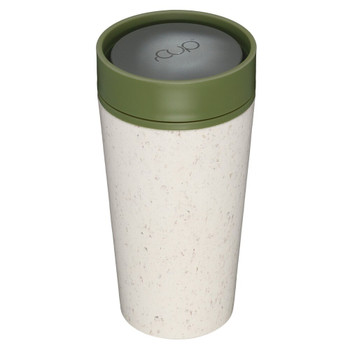 rCUP Reusable Coffee Cup - 12oz - Cream and Green