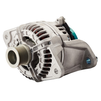 Mastervolt Alpha Compact Alternator - 28/80 Volvo Penta (with Pulley 8 Ribs - 48.1mm) - Side View